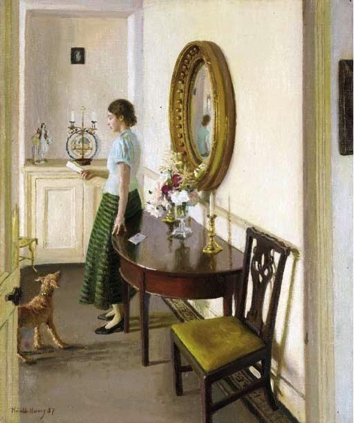 The Letter, 1937 / Harold Harvey British painter (1874--1941).: