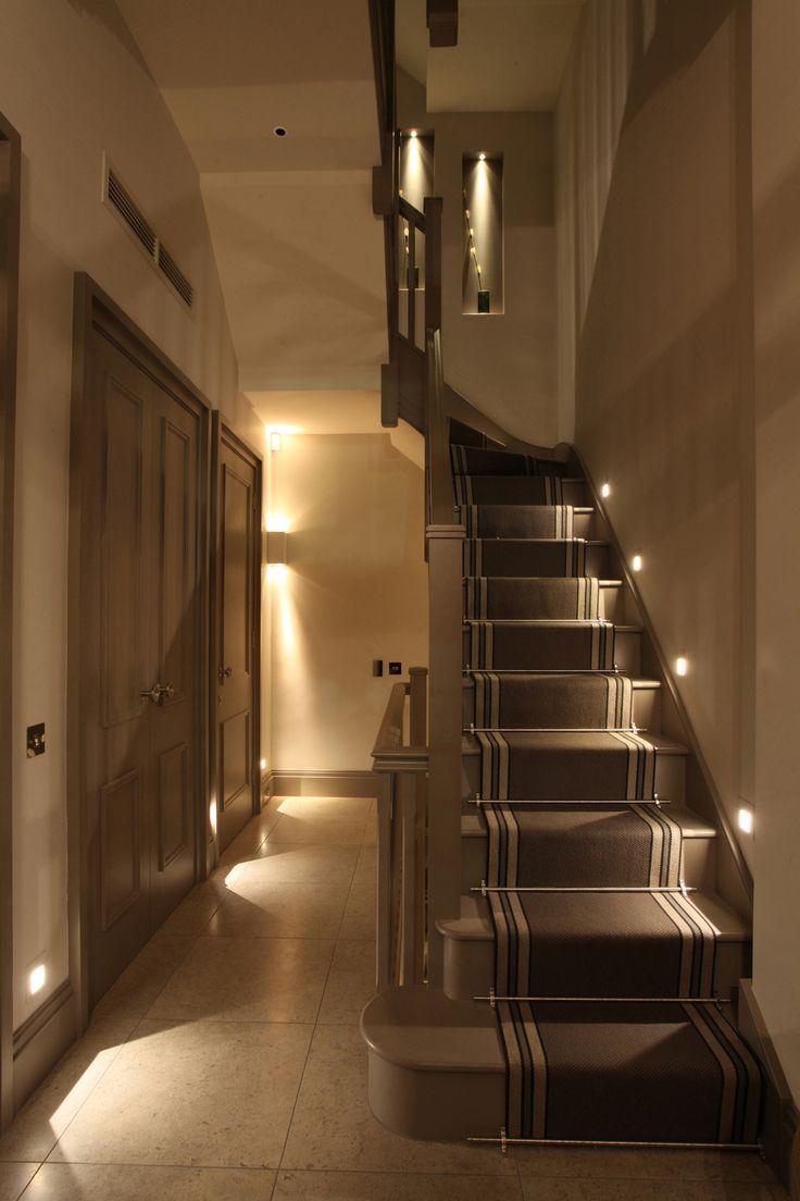 Beautiful Basement Stairway Lighting
