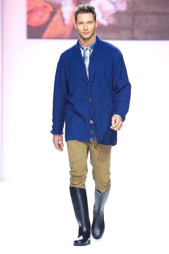 Knitted handmade jacket ELEPHANT of SALVADOR DALI for men
