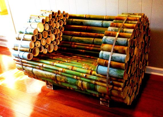CULMINATION  Bamboo Armchair  SALE by TheSag on Etsy, $1275.00