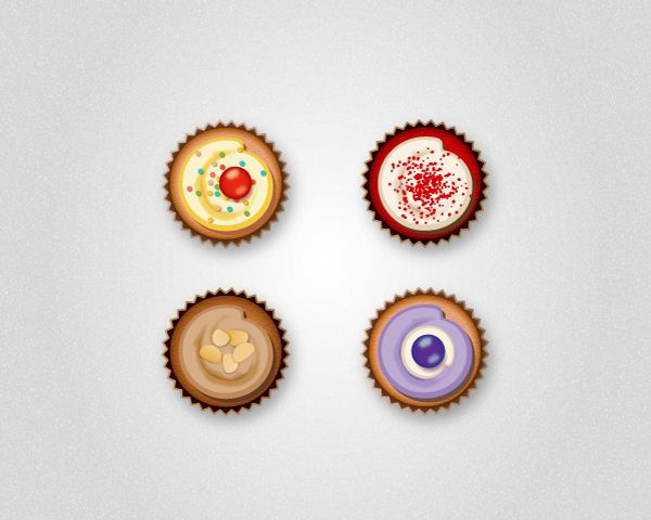 How to Create Delicious Cupcake Icons in Adobe Illustrator | by Diana Toma