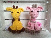 Gehaakte Giraf maxicosi/buggyhangers
