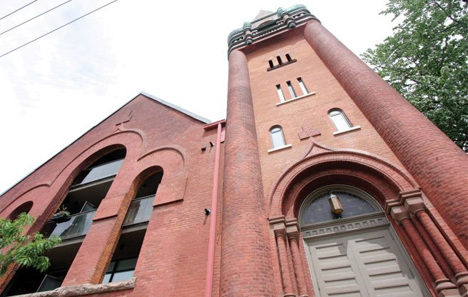 Condo of the Week: $750,000 to live in a former church in the Junction. #toronto, #torontorealestate, #torontolife, #condo, #church
