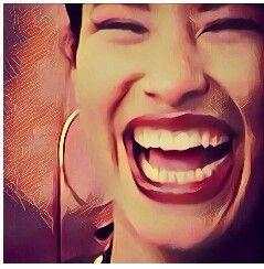 Selena laughs <3