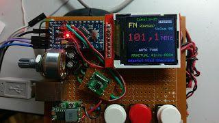 """radio, RDA5807, arduino, TFT 1,44"""""""