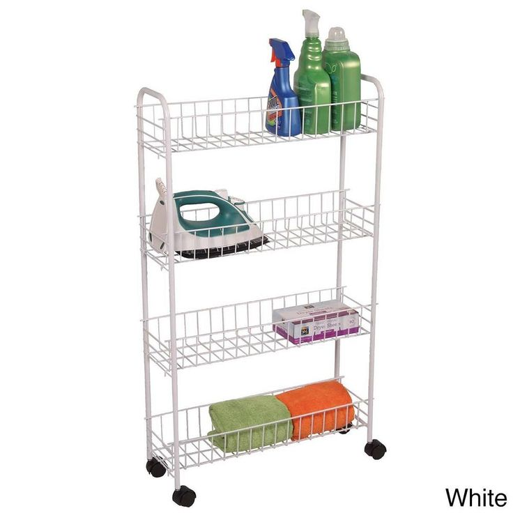 4-tier Rolling Bath Storage Cart - Overstock™ Shopping - The Best Prices on Richards Homewares Other Bath Accessories