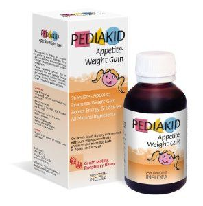 Pediakid Appetite-Weight Gain, a Natural Appetite and Weight Gain Stimulant for Underweight Children (Raspberry Flavor) by Pediakid. $22.49. Supports Energy & Calories. Ideal Appetite Stimulant for Children with ADD, Anxiety and HyperActivity. Stimulates Eating for Lack and Loss of Appetite. Helps Gaining Weight for Underweight Children. Naturally Rich in Vegetable and Produce Fibers. This new Pediakid Appetite-Weight Gain is specially formulated for underweight childr...