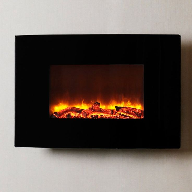 Dynasty Contemporary Electric Fireplace LED Wall Mount - 36.5 in. - EF67-C