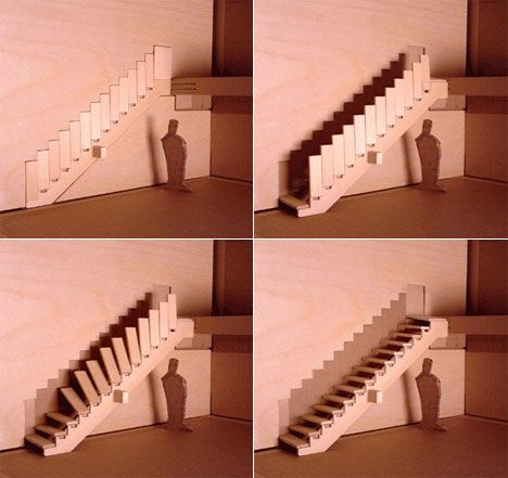 Beautiful Disappearing Stairs!