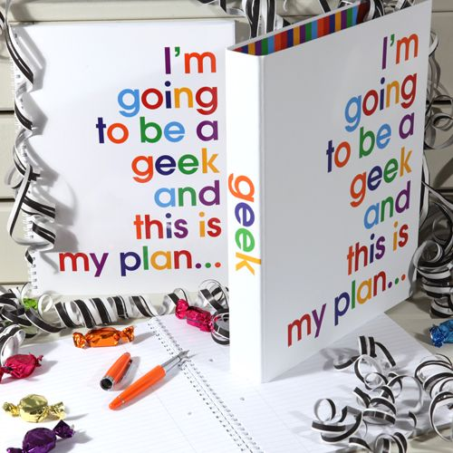 I'm going to be a Geek - Ringbinder