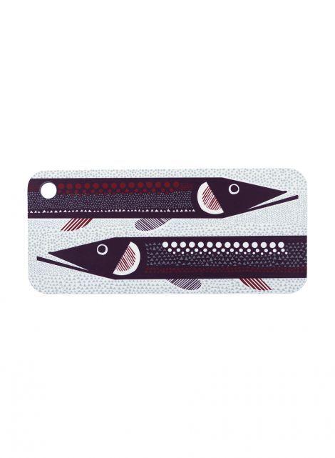 Hauki-leikkuulauta (valkoinen, violetti, punainen) |Sisustustuotteet, Keittiö, Tarjottimet | Marimekko