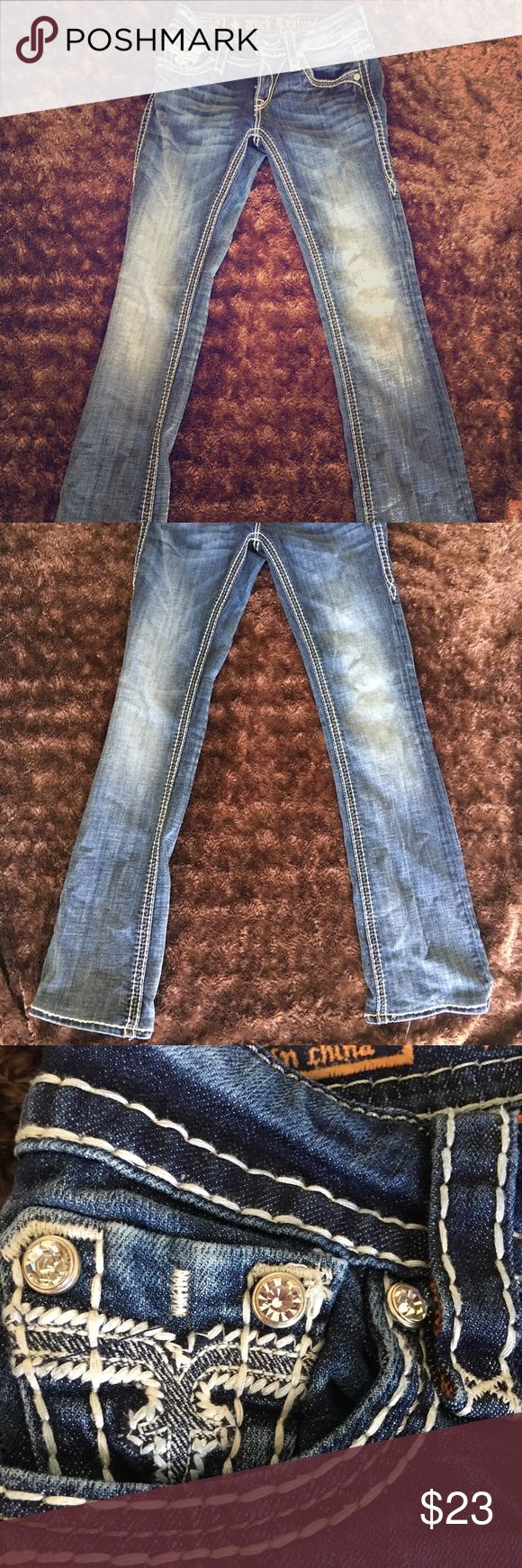 "Rock Revival Jeans- Simons Slim Boot Perfect jeans for date night or hanging with friends. These jeans were hemmed by the seamstress at Buckle. ***Jeans will fit perfectly for ladies 5'3"" and shorter*** Rock Revival Jeans Boot Cut"
