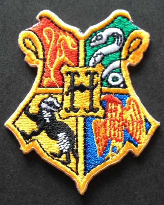 HOGWARTS - Fully Embroidered Iron on Patch  Patch measures: 2.5 x 2.5 (Approx)  THIS IS A PREMIUM QUALITY PATCH!  Iron-on backing fuses onto any fabric