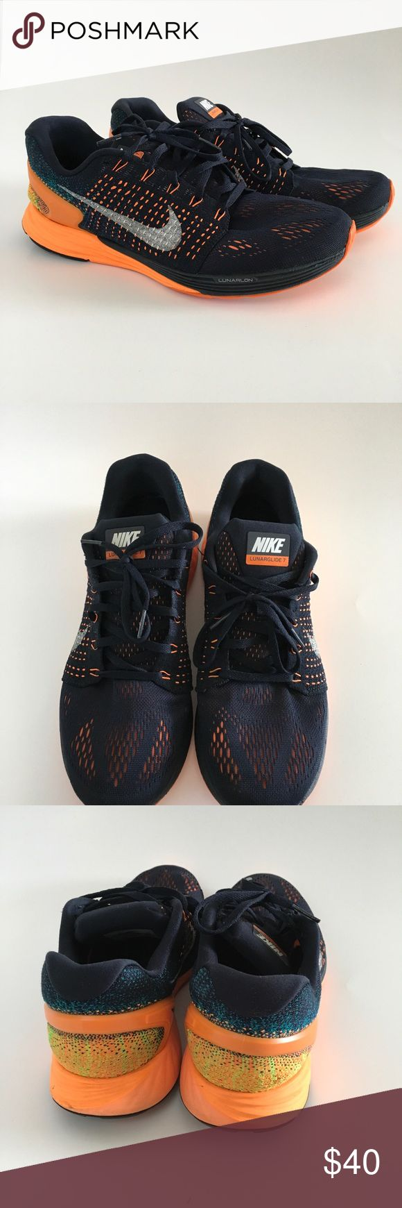 Nike Lunarglide 7 running shoes Used Nike Lunarglide 7 running shoes size 9.5. Some wear on the soles shown in pictures but shoes are in good condition Nike Shoes Sneakers