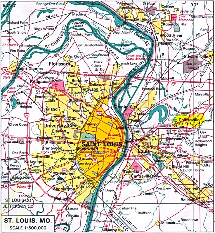 16 best historical and contemporary maps of st louis mo images