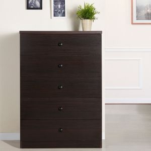 Oak Wood 5-Drawer Wood Chest