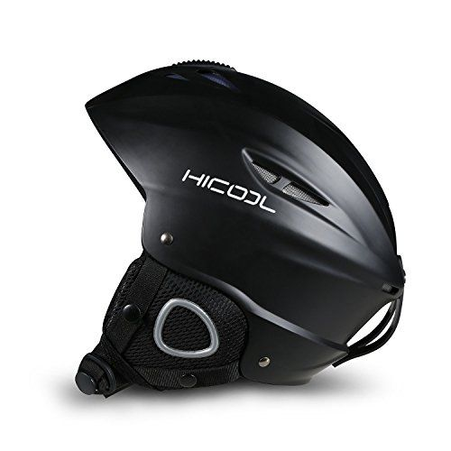HiCool Unisex Adult Snow Sports Helmet, Medium - Black ** You can find out more details at the link of the image.