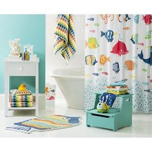 Best Kids Bathroom Images On Pinterest Kid Bathrooms - Fish bath towels for small bathroom ideas