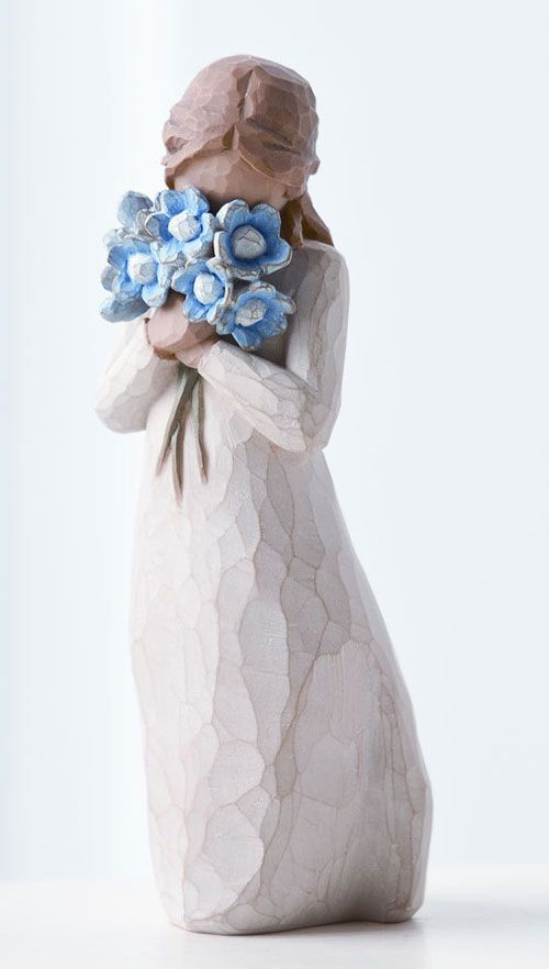 can't get enough Willow Tree..love this one with my favorite color blue