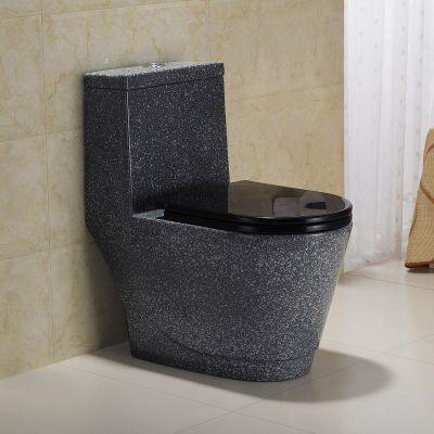Saniter kamar mandi Warnawarni pribadi toilet menyedot one piece toilet keramik anti-bau hitam