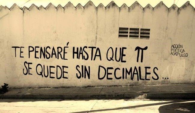 Te pensare hasta que Pi se quede sin decimales  #lavidaesarte #calle