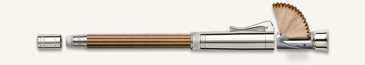 The pleasure of writing and drawing with a classic pencil depends a good deal on it being well sharpened. But where is the best place to keep a sharpener so that it is always to hand? The Perfect Pencil provides a simple but elegant answer: just where it is needed, on the pencil itself, built into the protective cap that also serves to extend the pencil in use. With the replaceable eraser under the end cap, you have everything together in an ideally compact form and always ready for use: for…