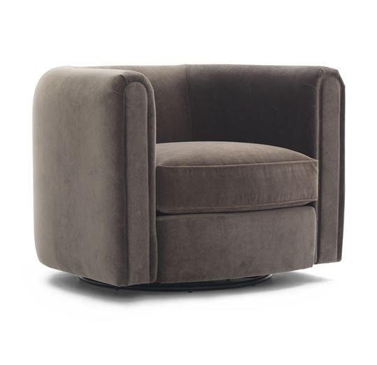 ALDEN BARREL CLUB RETURN SWIVEL CHAIR<BR>[available online and in stores]