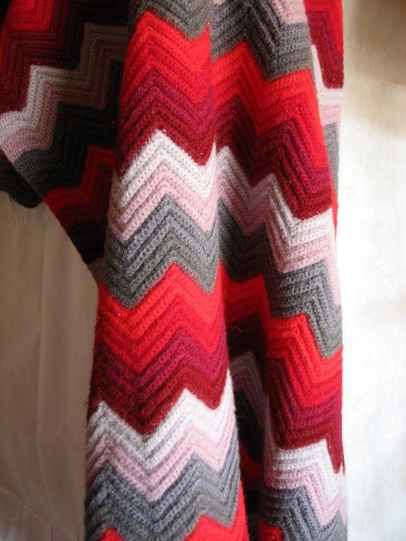 Clearance item....Vintage Handmade Wool Chevron by erikamara
