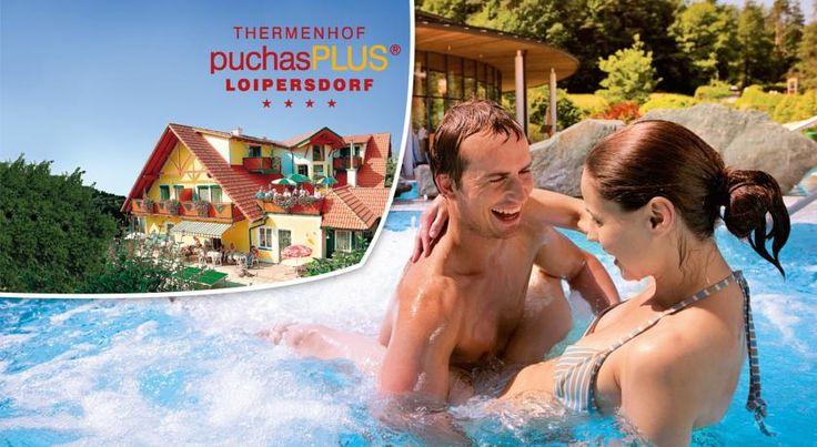 Thermenhof PuchasPLUS Loipersdorf Jennersdorf Set amidst the scenic hills of the Thermenregion of Styria and Burgenland, the 4-star Thermenhof PuchasPLUS Loipersdorf is set 1,200 metres from the Loipersdorf Thermal Spa, and 4 km from the 27-hole golf course of Loipersdorf.