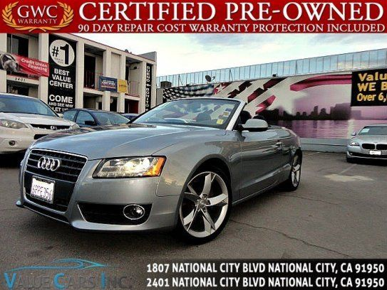 Convertible, 2011 Audi A5 2.0T Premium Plus Cabriolet with 2 Door in National City, CA (91950)