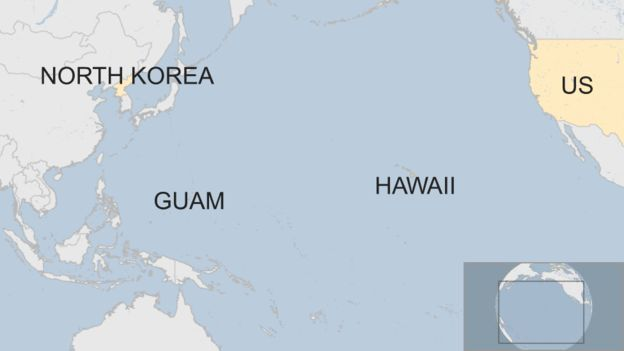 """The 541 sq km (209 sq miles) volcanic and coral island in the Pacific between the Philippines and Hawaii. It is an """"unorganised, unincorporated"""" US territory, with a population of about 163,000. US military bases cover about a quarter of the island. About 6,000 personnel are based there and there are plans to move in thousands more."""