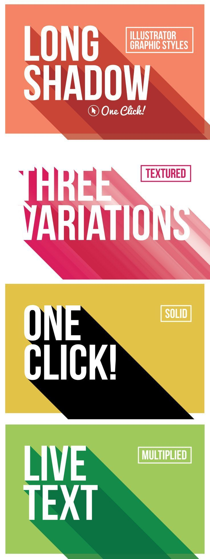 20 best images about motif long shadow on pinterest - Text banner design ...