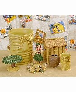 @Overstock.com - Hula Tiki Bathroom Accessory Set with Shower Curtain - Lend a touch of exotic, tropical culture to your bathroom with the Hula Tiki Bathroom Accessory Set.  http://www.overstock.com/Bedding-Bath/Hula-Tiki-Bathroom-Accessory-Set-with-Shower-Curtain/1738378/product.html?CID=214117 $59.99