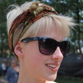 Short hair & head scarf