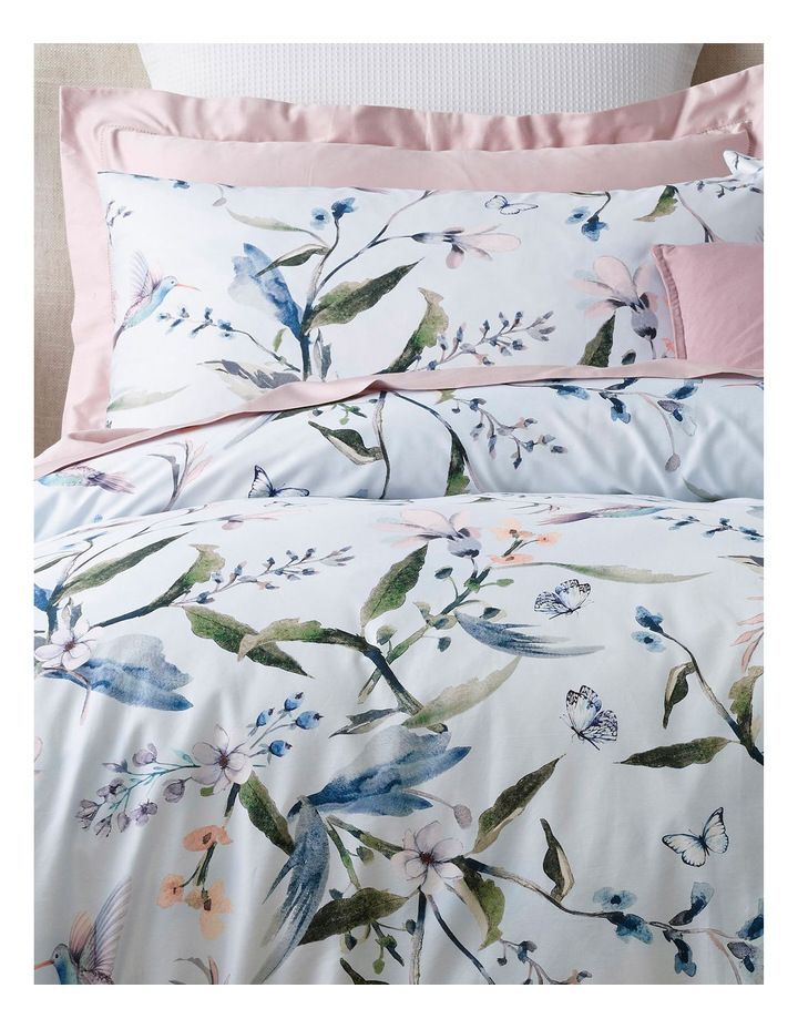 Heritage Bella Cotton Sateen Quilt Cover Set In Blue Myer Quilt Cover Cotton Quilt Covers Quilt Cover Sets