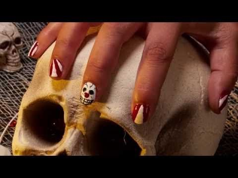 Nail Art Halloween Cirque Effrayant - YouTube