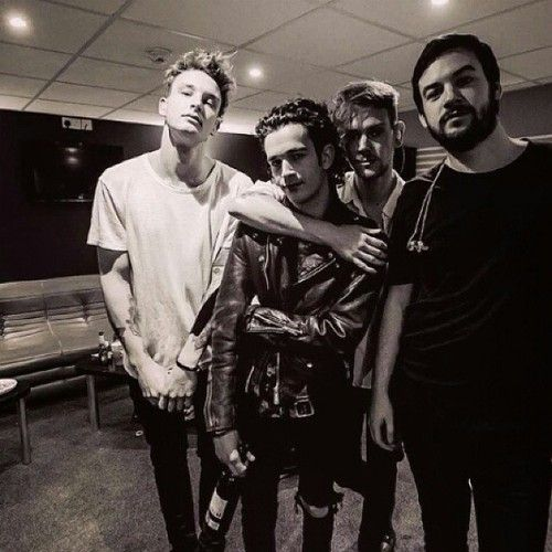 """""""A lot of drinking coffee and debating stuff. There's a lot of conversation, from politics to religion to art to love… we're best mates, we just like to hang out and eat food and get drunk."""" Matty Healy"""