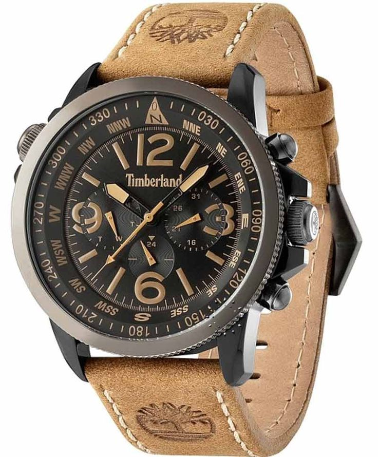 TIMBERLAND Campton Brown Leather Strap Η τιμή μας: 175€ http://www.oroloi.gr/product_info.php?products_id=35601