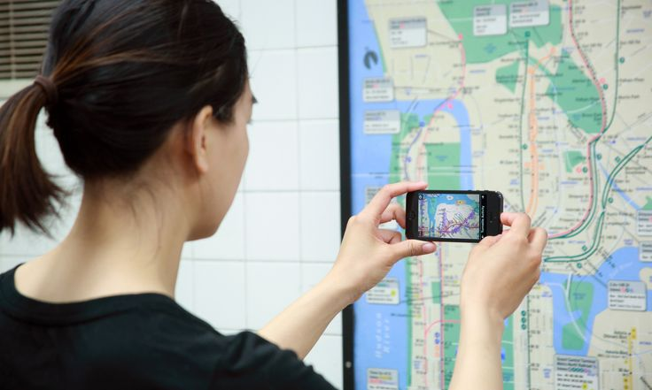 Augmented reality app brings new works subway maps to life