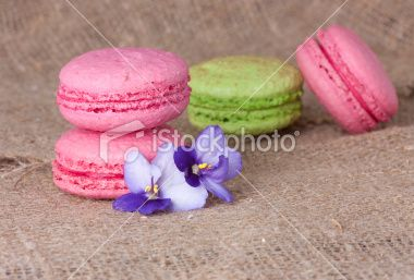 Macaroons in pink and Light Green Royalty Free Stock Photo