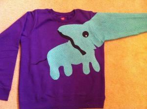 Haha cute but dorky: Elephants Sweatshirts, My Sisters, Elephants Sweaters, This Is Awesome, Purple Elephants, Baby Sisters, Elephants Shirts, Animal Sweaters, Cute Elephants