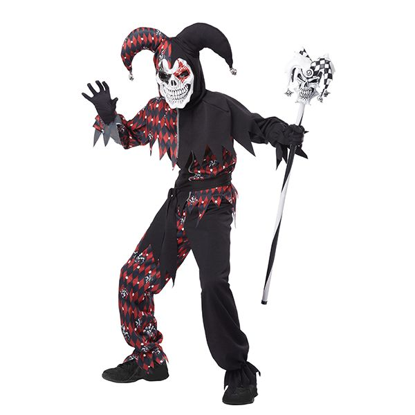 The Boys Joker's Wild Sinister Jester Costume is perfect for the trickster looking to scare up a fright instead of laughs. #Jester #boys #costume #Halloween