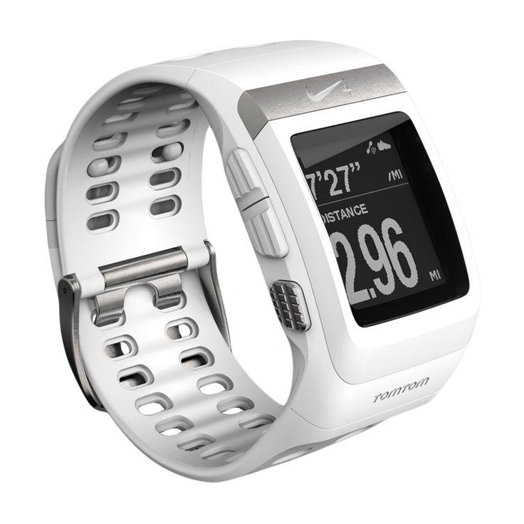 Nike+ sportsklokke SportWatch GPS TomTom (hvit/sølv)