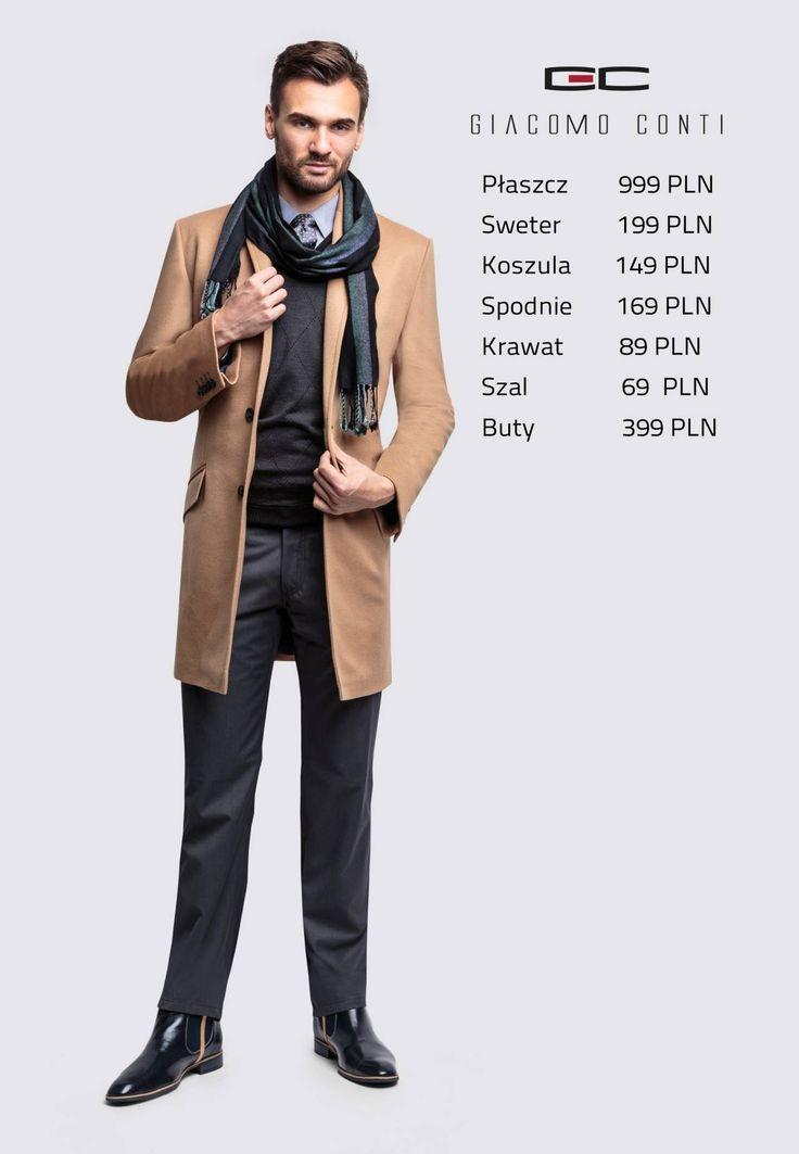 Stylizacja Giacomo Conti: płaszcz Casimiro 14/72 WK, sweter Enrico 13/46 CS, spodnie Augusto 03 S,koszula Michele 14/06/23 #giacomoconti