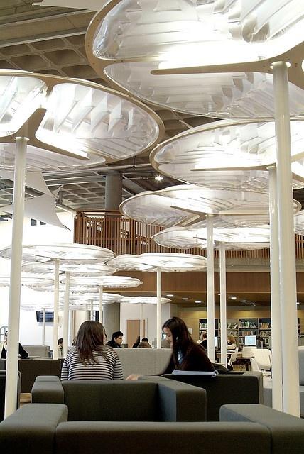 Lighting Saltire Centre Glasgow Caledonian University