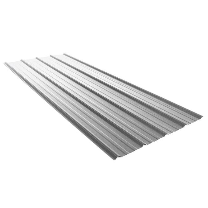 Union Corrugating 3 17 Ft X 8 Ft Ribbed Silver Steel Roof Panel Lowes Com In 2020 Steel Roof Panels Metal Roof Panels Metal Roof