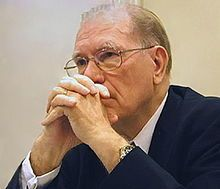 Lyndon LaRouche (1922-) in 2006, a controversial American political activist and founder of the LaRouche movement-Another call for a Fifth International was made by Lyndon LaRouche after leaving the Spartacist League in 1965.[3] Later, a 'Fifth International of Communists' was founded in 1994 by several very small former Trotskyist groups around the Movement for a Socialist Future.