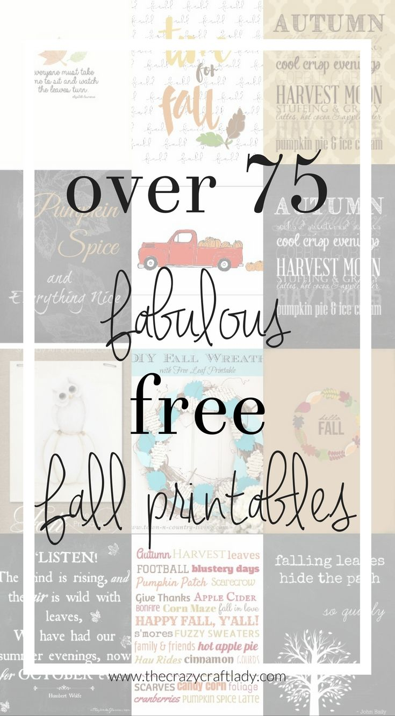 75 Free Fall Printables
