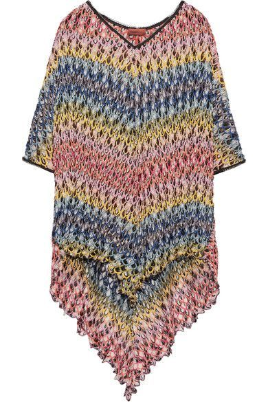 MISSONI Mare Crochet-Knit Kaftan. #missoni #cloth #beachwear