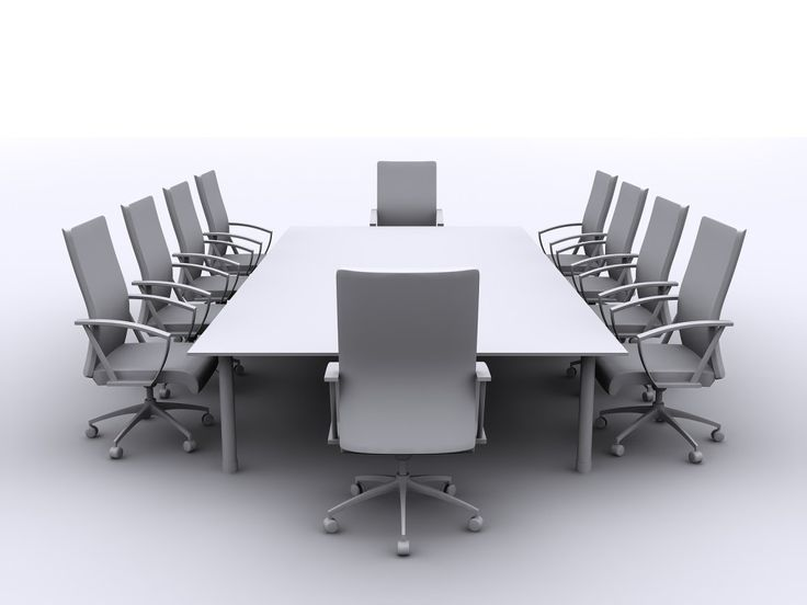 Meeting table all in silver